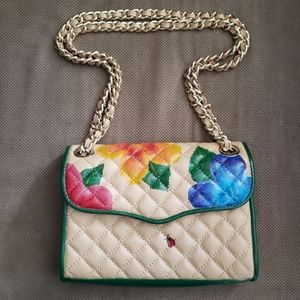 Rebecca Minkoff hand painted quilted crossbody